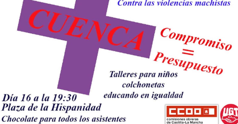 El PSOE de Cuenca apoya la Jornada contra las Violencias Machistas que se celebra mañana